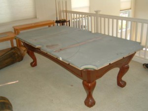 Proper pool table moving process in Grand Junction Colorado